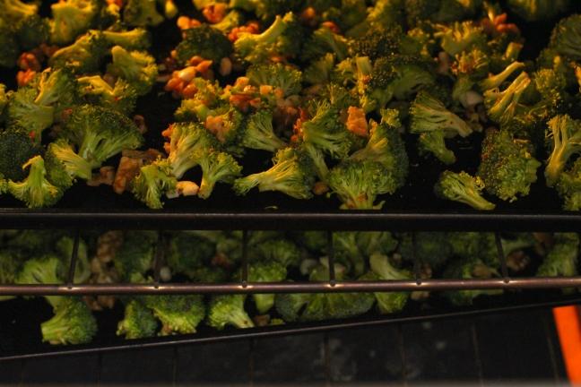 roasting broccoli